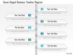 Business Diagram Seven Staged Business Timeline Diagram Presentation Template