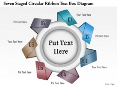Business Diagram Seven Staged Circular Ribbon Text Box Diagram Presentation Template
