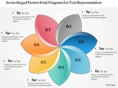 Business Diagram Seven Staged Flower Petal Diagram For Text Representation Presentation Template