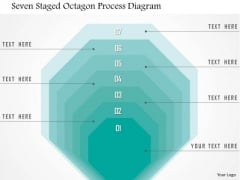 Business Diagram Seven Staged Octagon Process Diagram Presentation Template