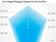 Business Diagram Seven Staged Pentagon Diagram For Process Flow Presentation Template