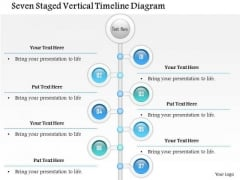 Business Diagram Seven Staged Vertical Timeline Diagram Presentation Template