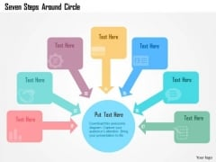 Business Diagram Seven Steps Around Circle Presentation Template