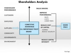 Business Diagram Shareholders Analysis PowerPoint Ppt Presentation