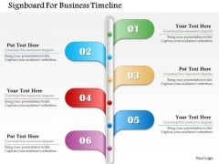 Business Diagram Signboard For Business Timeline Presentation Template