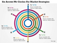 Business Diagram Six Arrows Web Circles For Market Strategies Presentation Template