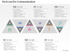 Business Diagram Six Icons For Communication Presentation Template