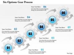 Business Diagram Six Options Gear Process Presentation Template