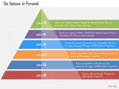 Business Diagram Six Options In Pyramid Presentation Template