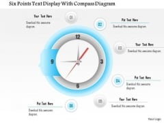 Business Diagram Six Points Text Display With Compass Diagram Presentation Template
