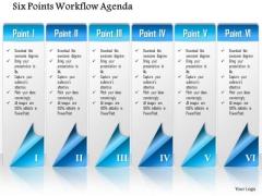 Business Diagram Six Points Workflow Agenda Presentation Template