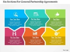 Business Diagram Six Sections For General Partnership Agreements Presentation Template