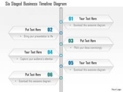 Business Diagram Six Staged Business Timeline Diagram Presentation Template
