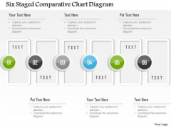 Business Diagram Six Staged Comparative Chart Diagram Presentation Template