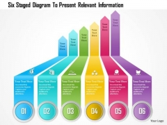 Business Diagram Six Staged Diagram To Present Relevant Information Presentation Template