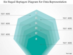 Business Diagram Six Staged Heptagon Diagram For Data Representation Presentation Template