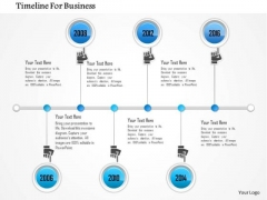Business Diagram Six Staged Linear Business Timeline Diagram Presentation Template