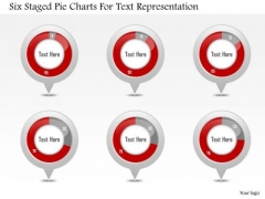 Business Diagram Six Staged Pie Charts For Text Representation PowerPoint Slide