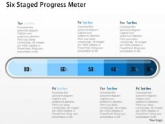 Business Diagram Six Staged Progress Meter Presentation Template