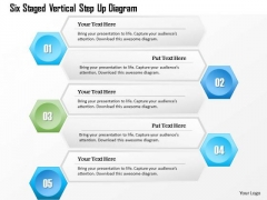 Business Diagram Six Staged Vertical Step Up Diagram Presentation Template