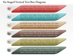Business Diagram Six Staged Vertical Text Box Diagram Presentation Template
