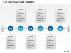 Business Diagram Six Stages Agenda Timeline Presentation Template