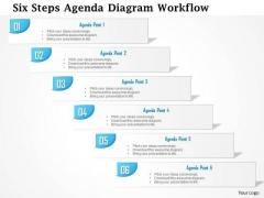 Business Diagram Six Steps Agenda Diagram Workflow Presentation Template