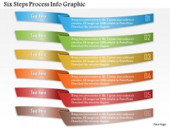 Business Diagram Six Steps Process Info Graphic Presentation Template
