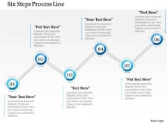 Business Diagram Six Steps Process Line Presentation Template