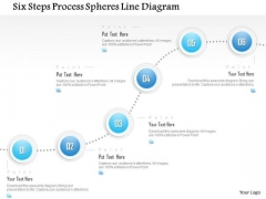 Business Diagram Six Steps Process Spheres Line Diagram Presentation Template