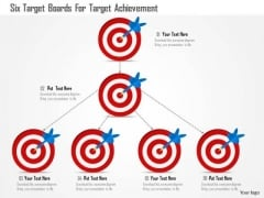 Business Diagram Six Target Boards For Target Achievement Presentation Template