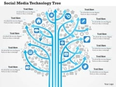 Business Diagram Social Media Technology Tree Showing Various Kinds Of Media Outlets Ppt Slide