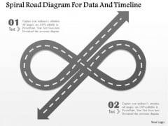 Business Diagram Spiral Road Diagram For Data And Timeline Presentation Template
