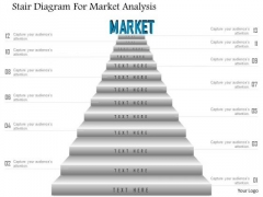 Business Diagram Stair Diagram For Market Analysis Presentation Template