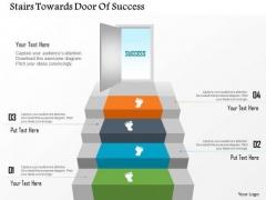 Business Diagram Stairs Towards Door Of Success Presentation Template