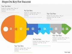 Business Diagram Steps On Key For Success Presentation Template
