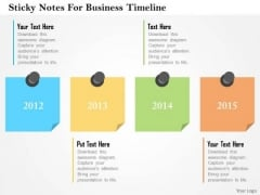 Business Diagram Sticky Notes For Business Timeline Presentation Template