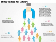 Business Diagram Strategy To Attract New Customers Presentation Template