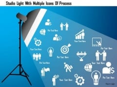 Business Diagram Studio Light With Multiple Icons Of Process Presentation Template