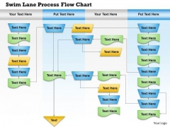 Business Diagram Swim Lane Process Flow Chart Presentation Template