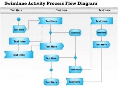 Business Diagram Swimlane Activity Process Flow Diagram Presentation Template