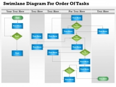 Business Diagram Swimlane Diagram For Order Of Tasks Presentation Template