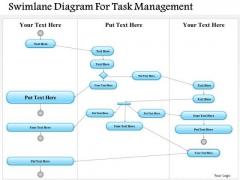 Business Diagram Swimlane Diagram For Task Management Presentation Template