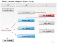 Business Diagram Swimlane Diagram To Organize Business Activities Presentation Template
