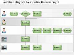 Business Diagram Swimlane Diagram To Visualize Business Stages Presentation Template