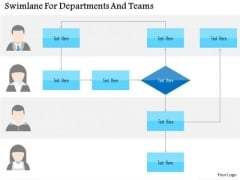 Business Diagram Swimlane For Departments And Teams Presentation Template