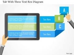 Business Diagram Tab With Three Text Box Diagram Presentation Template