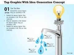 Business Diagram Tap Graphic With Idea Generation Concept Presentation Template