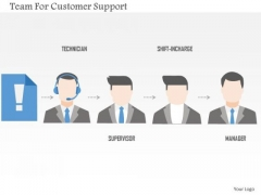 Business Diagram Team For Customer Support Presentation Template