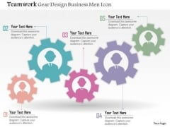 Business Diagram Teamwork Gear Design Business Men Icon Presentation Template